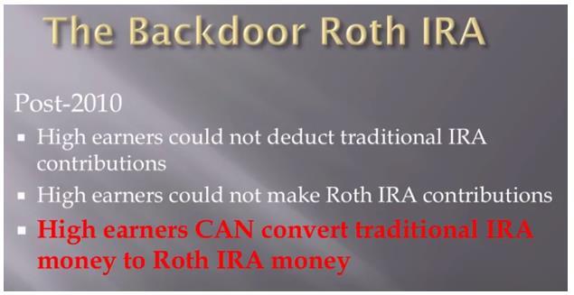Backdoor Roth IRA 조항