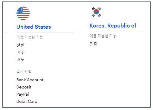 코인베이스 미국 한국 비교