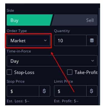 미국 주식 주문 타입 (Market order)