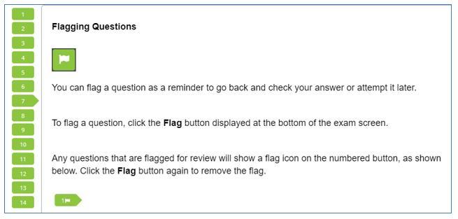 EA 시험 flag 표시