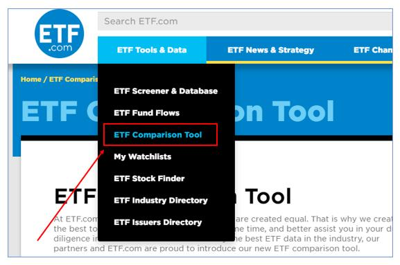 ETF 운용보수 비교 툴
